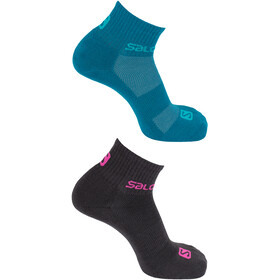 Salomon Evasion Calcetines 2 pack, urban chick/enamel blue